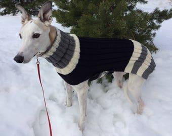 Greyhound Sweater, Greyhound Coat, lurcher Sweater, greyhound jersey, Dog Sweater, Large Dog Sweater, Large Dog Clothes, Knitted Dog Sweater