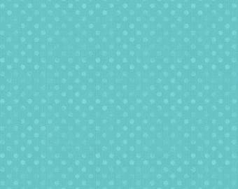 """108"""" Wilmington Prints Turquoise Dotsy Wide Backing"""