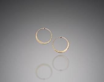 Tiny Gold Hoops // Tiny 14k Gold Hoop Earrings // Delicate Gold Hoop Earrings // Delicate Gold Hoops // Tiny Hoop Earrings // Tiny Hoops