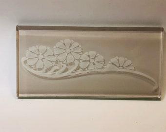 New-Glass subway BOUQUET accent/border tile 3x6, kitchen backsplash, bathroom walls