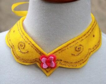 Elements of harmony - Fluttershy felt necklace - my little pony Fluttershy necklace - elements of harmony Fluttershy necklace