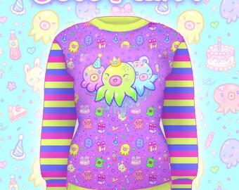 """Purple """"OctoParty"""" Sweater"""