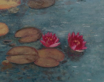 Waterlily Print from Original Oil Painting Miniature