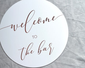 Welcome to the Bar Acrylic Sign | Bar Sign | Wedding Bar Sign | Acrylic Sign | Wedding Sign | Event Sign