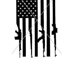 Gun Flag American Flag Rifle Flag SVG PNG File