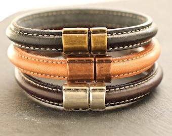 Thin Leather Cuff , Leather Bangle , Minimal Bangle ,  Gift For Him , Plain Bracelet , Mens Bracelet , Mens Bangle , Amy Fine Design