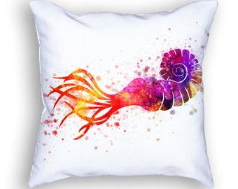 Giant squid Throw Pillow, 18x18, Cushion Home Decor, Gift Idea, Pillow Case