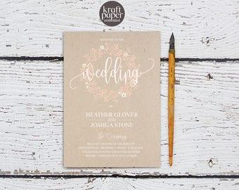 Wedding Program, Wedding Program Templates, Editable Wedding Program Template, DIY Wedding Program, Ceremony Program, Pink Wedding, BD-6056