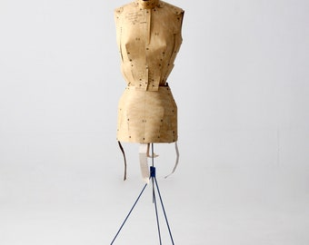 Adjust-O-Matic dress form circa 1960, paper dress form with stand