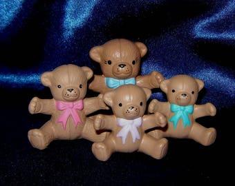 Set of Miniature Ceramic Bear Family - Group 1 - Miniature Bears - Miniature Animals - Ceramic Miniature Teddy Bears - Ceramic Bears