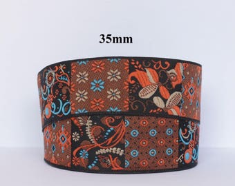 Width 35 mm jacquard embroidered Ribbon