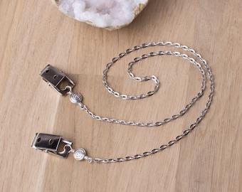 Napkin clips - Tibetan Spiral oval link napkin chain | napkin cord | serviette holder | napkin neck chain