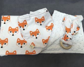 Bib Set fox fabric