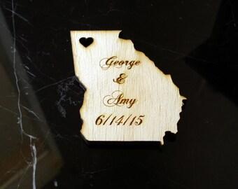 100 Georgia State Wedding Favors Custom Engraved Atlanta wedding