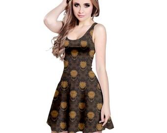 Labyrinth Dress - Door Knocker Damask Dress Door Knocker Dress Comicon Dress Geeky Dress Plus Size Dress Goblin King Dress