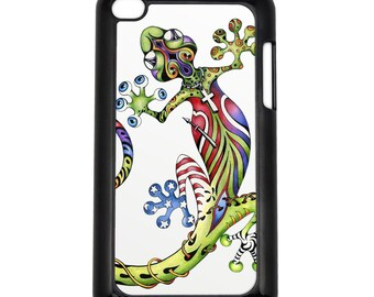 Art Gecko on Apple iPod Touch 4th Generation Hard Case Original Lizard Art (Choose Case Color)
