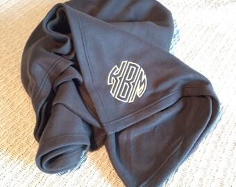 Personalized Fleece Blanket- Monogrammed Fleece Blanket