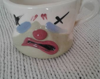 Vtg 50s 60s Cleminson Coffee Cup - Never Again
