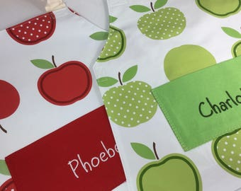 PVC Apple Apron for craft, painting, gardening, playing. Adult aprons, kids aprons & toddler aprons