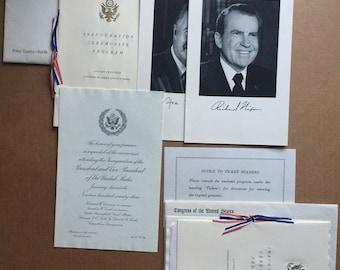 Pair Original 1973 President Nixon Inauguration invitation packages, Press Guest