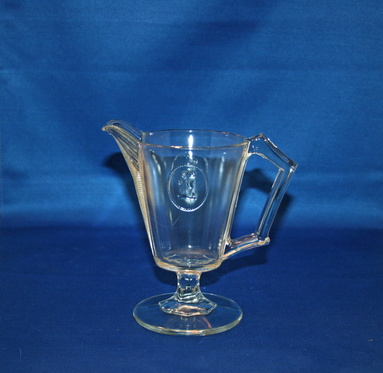 glass on clear pin vintage etsy whiteswanantiques candlesticks medallion candlewick sunburst pair by holders