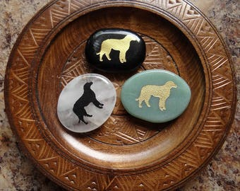 DOG Gemstone Animal Spirit Totem for Spiritual Jewelry or Crafts