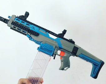 Nerf super Stryfe assault rifle modded and painted