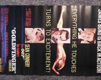 GoldFinger 007 Poster reprint 1982