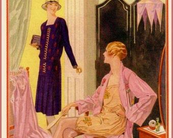Art Print Needlewoman Magazine Cover 1928 - Print 8 x 10