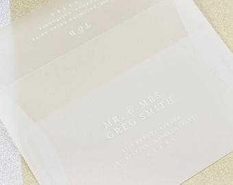 25 - A7 Transparent Square Flap Envelopes  - Vellum Envelopes - 5 1/4 - 7 1/4
