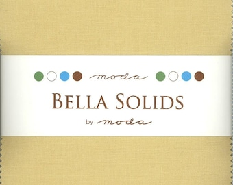 Bella Solids Parchment Charm Pack, Set of 42 5-inch Precut Cotton Fabric Squares (9900PP-39)