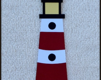 Die Cut LIGHTHOUSE Premade Paper Piecing Embellishment for Card Making Scrapbook or Paper Crafts