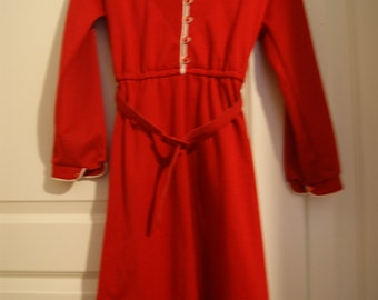 60's petite red dress