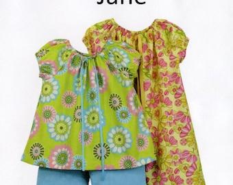 Childrens Corner Pattern / Peasant Style Dress Pattern /  Top and Pants Pattern / Jane Pattern / Children's Corner  #283 Jane