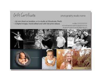 Gift Voucher Photoshop Template |  digital download | editable