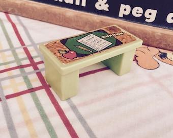 Vintage 1970s Fisher Price Little People Play School Teacher's Desk