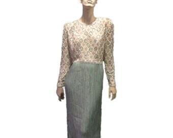 Mary McFadden Beaded Evening Gown