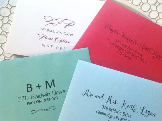 Wedding Invitation Envelopes Canada: Invitation Envelopes With Guest And Return Addressing Wedding