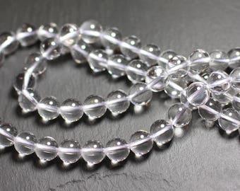 5pc - stone beads - Crystal Quartz balls 8mm - 4558550035844