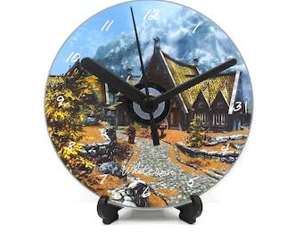 Skyrim Whiterun Printed CD Clock Video Game Collectable Gift Idea