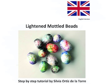 Lightened Mottled Beads, Polymer Clay Tutorial. English Version