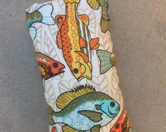 Gone Fishing Colorful Fish Padded Pipe Bag