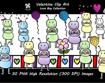 Valentines Clip Art- Love Bugs
