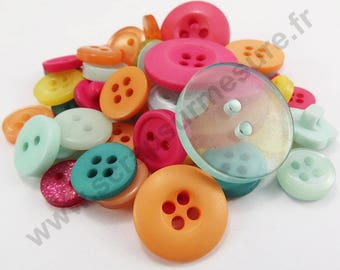 Decorative button - summer - x50pcs