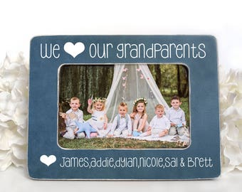 Gift for Grandparents Picture Frame for Grandparents Gift to Grandparents from Grandkids We Love Our Grandparents Personalized 4x6