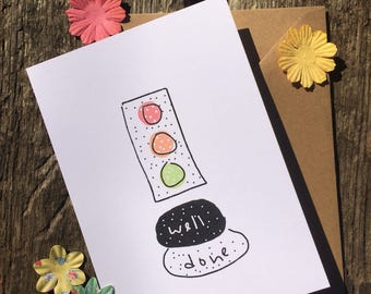 Driving Card - Test Pass Card - Driving Test - Well Done Card - New Driver Card - Test Congratulations - Congratulations Card