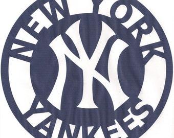 New York Yankee Metal Sign