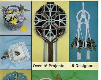 Macrame Designer Showcase Over 16 Projects Macrame Pattern Book PD-1180