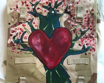 Heart canvas bag MadeByMySister3 tree