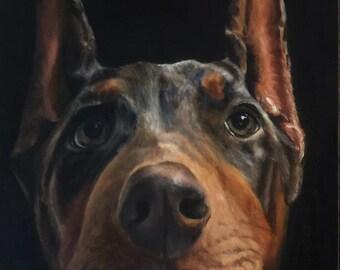 "9"" x 12"" Custom Pet Portrait Oil Painting"